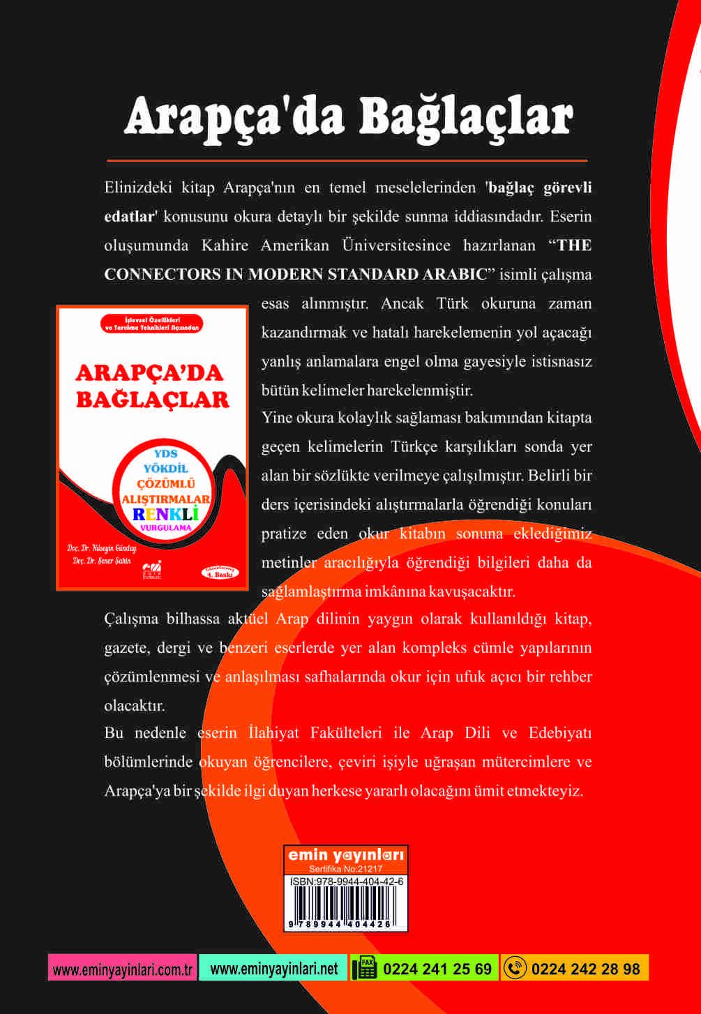 ARAPÇA'DA BAĞLAÇLAR YDS-YÖKDİL ÇÖZÜMLÜ ALIŞTIRMALAR; Örnek Tercümeli Metinlerle Destekli