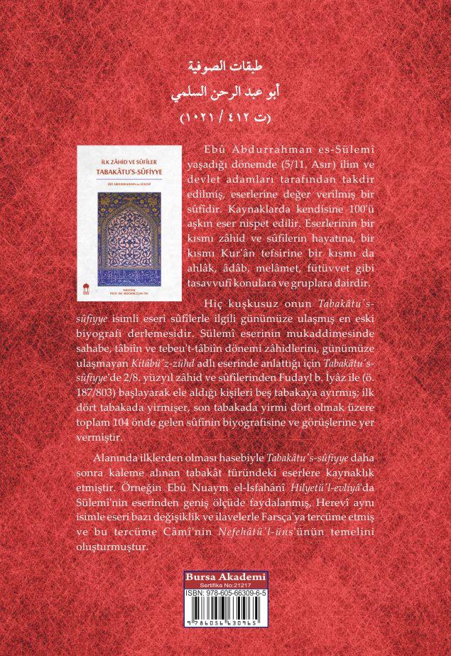 İlk Zâhid ve SÛfiler Tabakâtu's-Sûfiyye