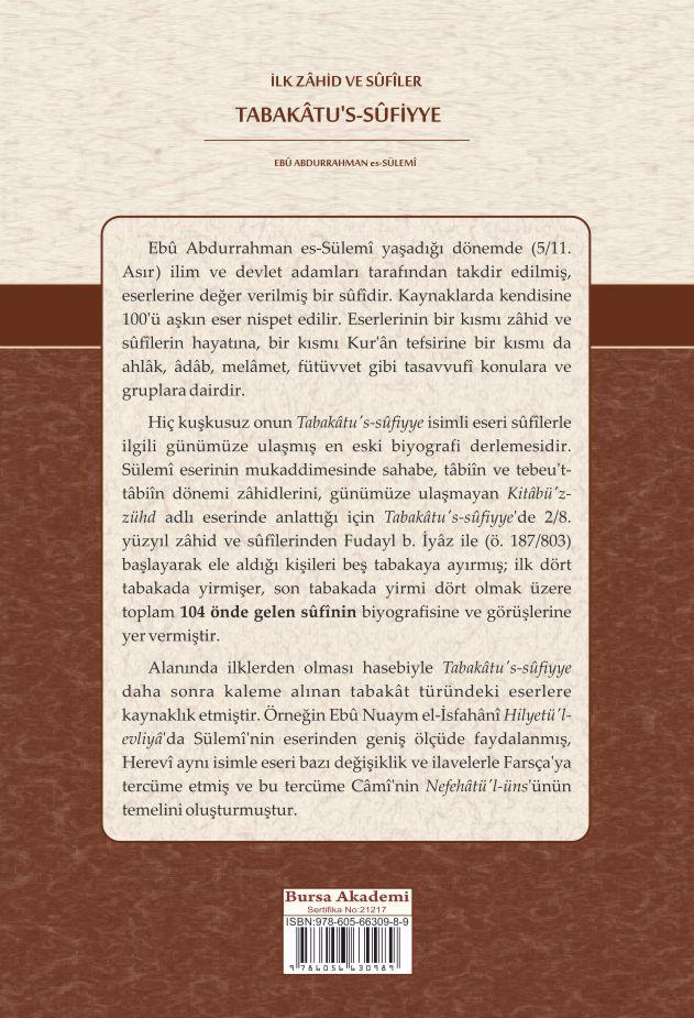 İlk Zâhid ve SÛfiler Tabakâtu's-Sûfiyye (Türkçe)